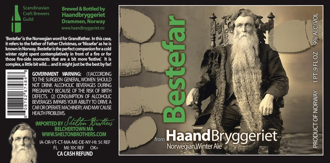 Haandbryggeriet Bestefar Winter beer label
