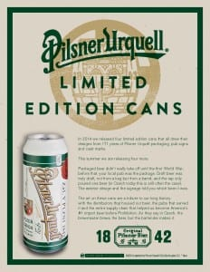 Pilsner Urquell LE Cans