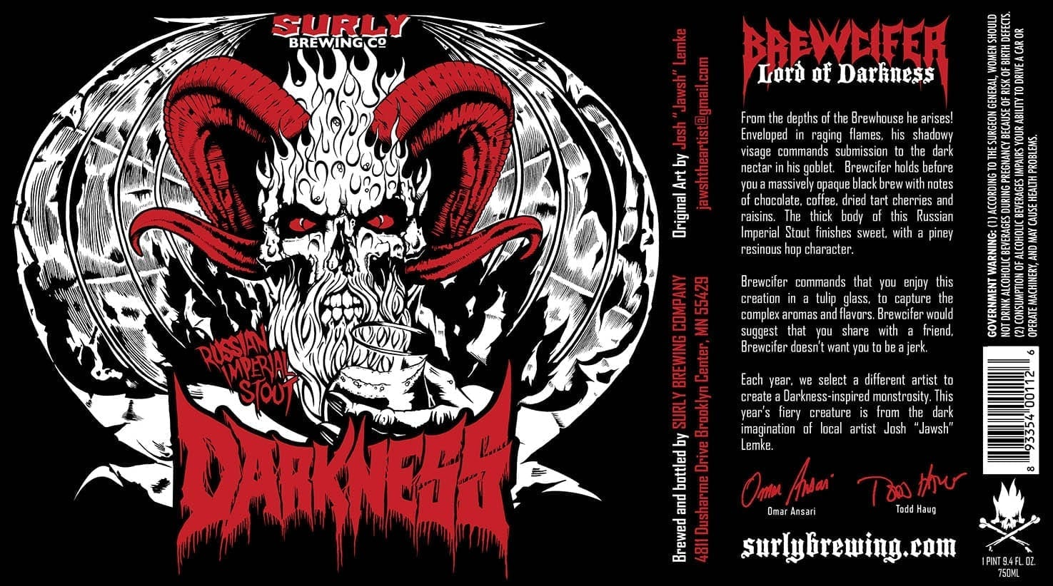 Surly Brewing Darkness 2013