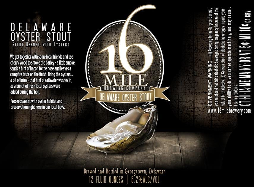 16 Mile Brewing Company Delaware Oyster Stout