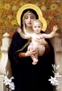 William-Adolphe Bouguereau La Vierge au lys [Public domain], via Wikimedia Commons