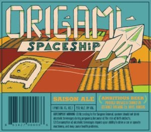 Defiance Brewing Company Origami Spaceship
