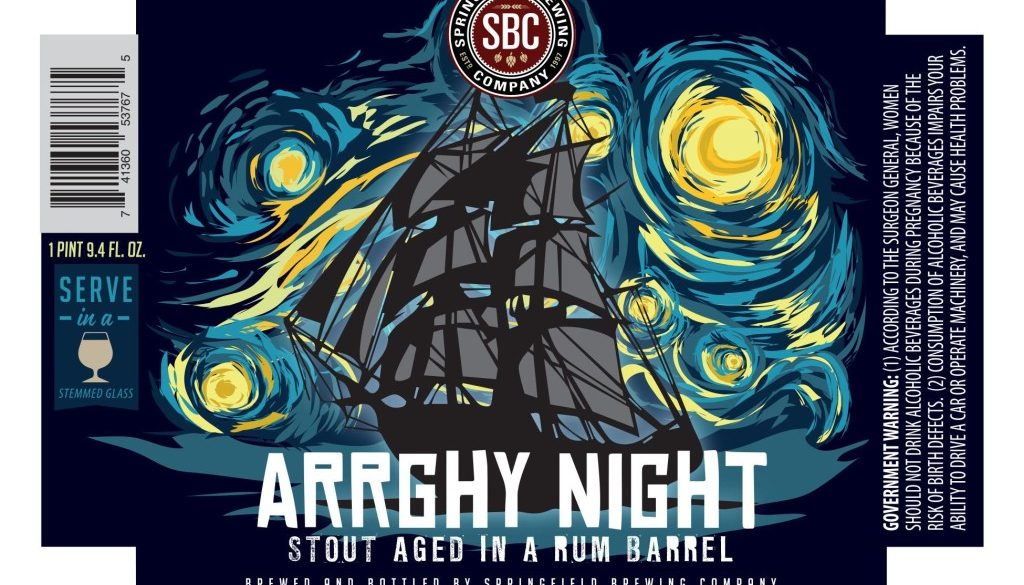 Springfield Brewing Company Arrghy Night