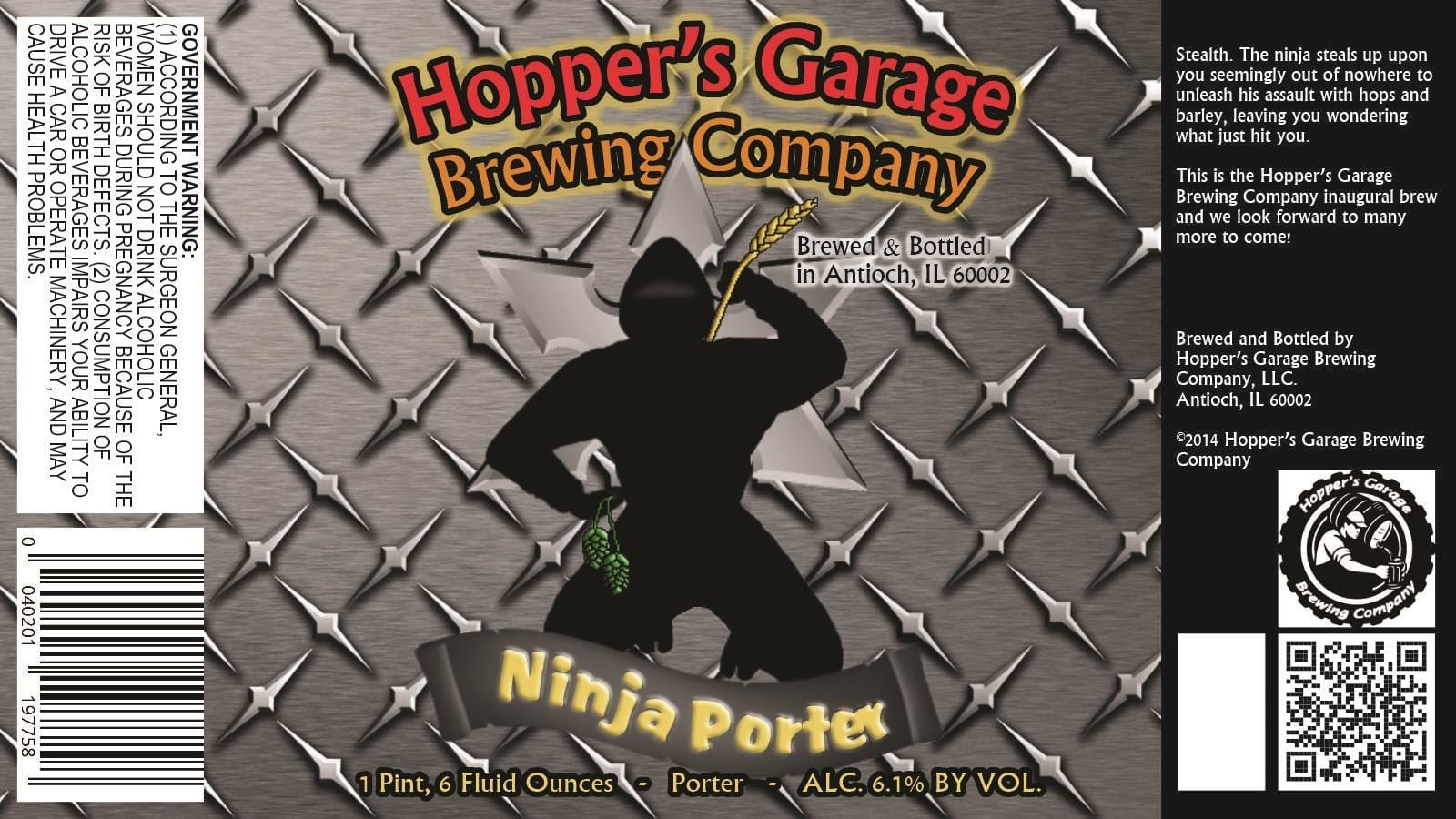 Hopper's Garage Brewing Ninja Porter