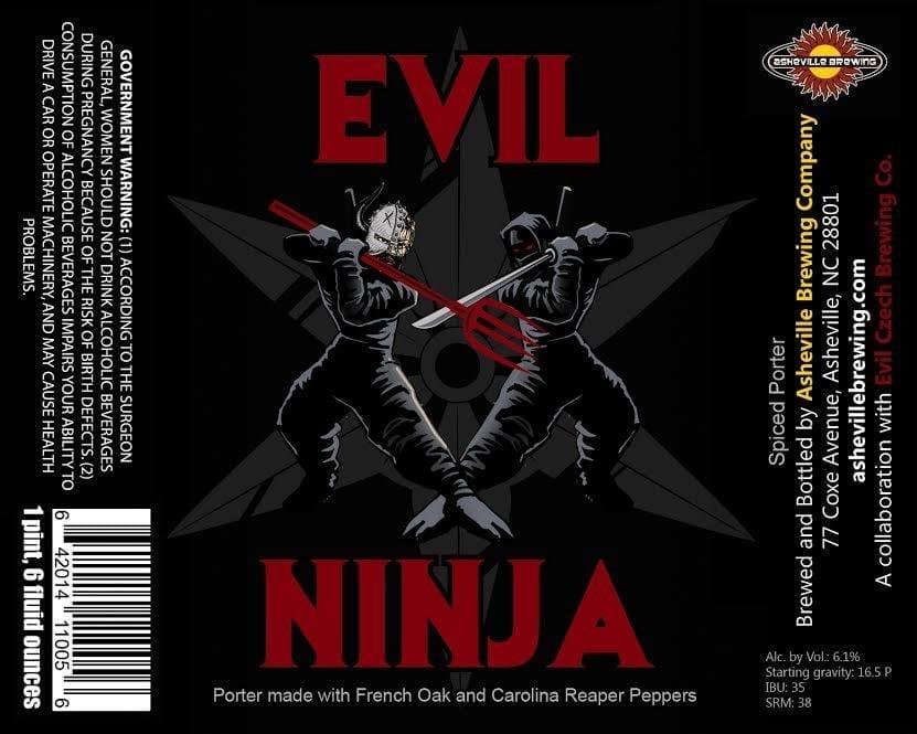 Asheville Brewing Company Evil Ninja