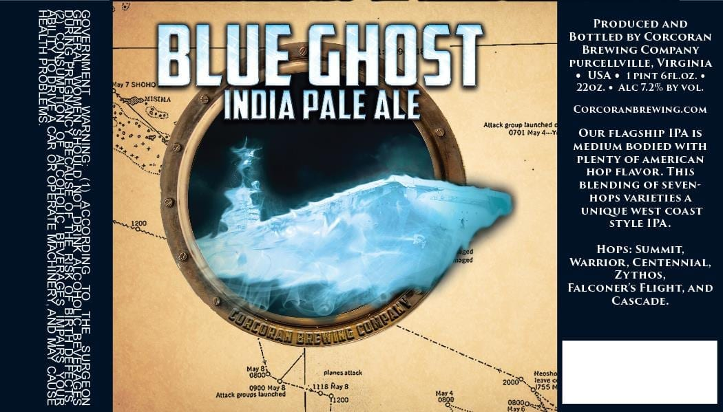 Corcoran Brewing Blue Ghost
