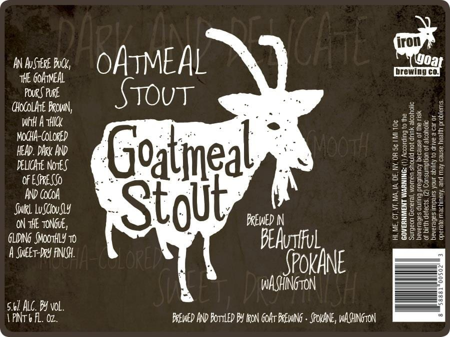 Iron Goat Brewing Goatmeal Stout