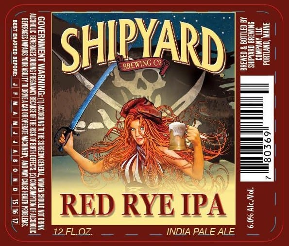 Shipyard Brewing Red Rye IPA