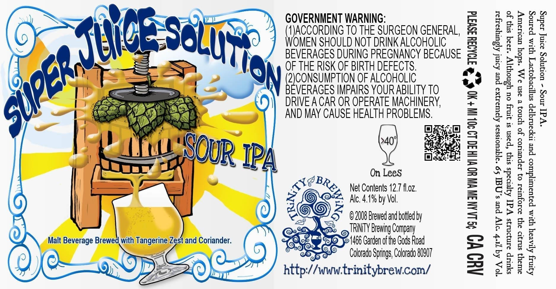 Trinity Brewing Super Juice Solution Sour IPA