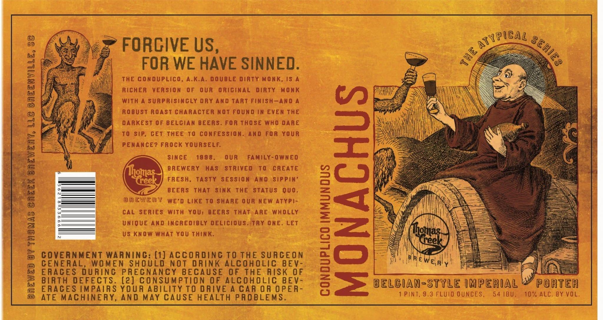Thomas Creek Brewery Conduplico Immundus Monachus