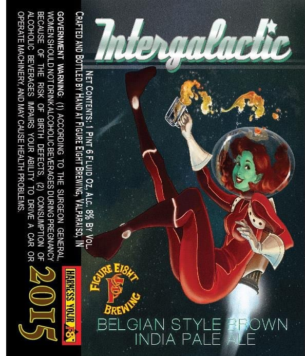 Figure Eight Brewing Intergalactic Belgian-Style Brown IPA
