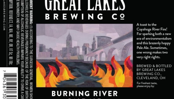 THE GREAT LAKES BREWING CO. BURNING RIVER