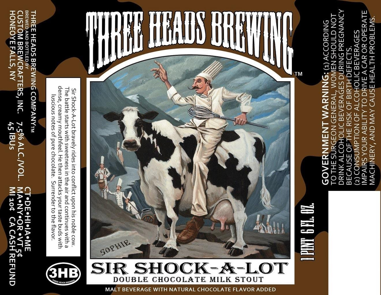 Three Heads Brewing Sir Shock-A-Lot