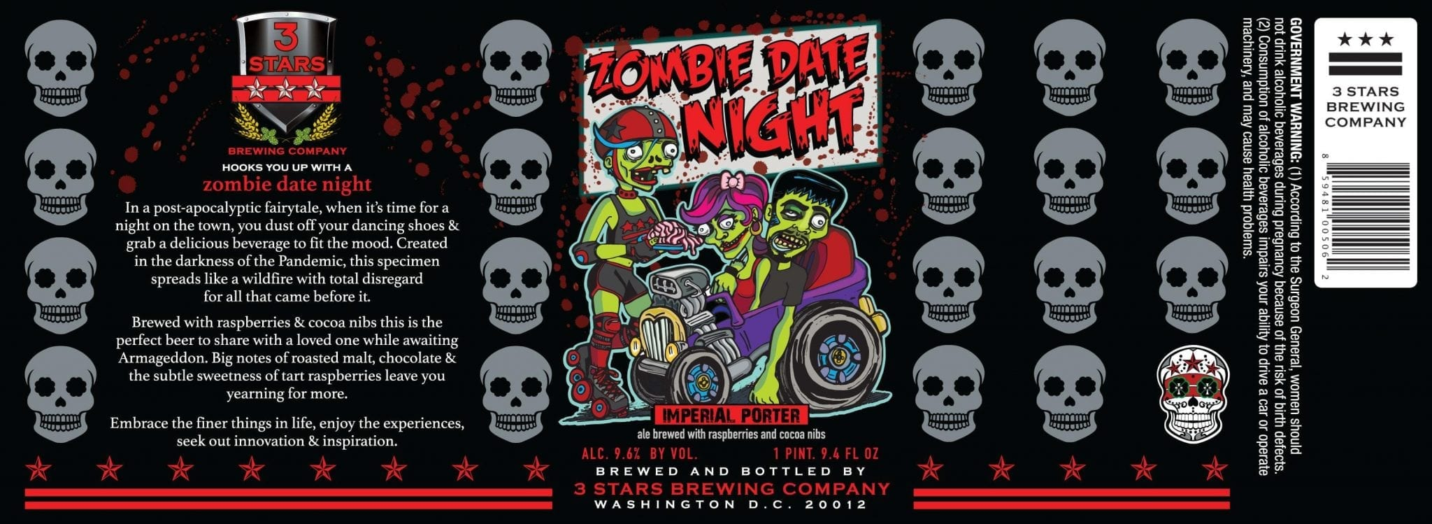 3 Stars Brewing Company Zombie Date Night