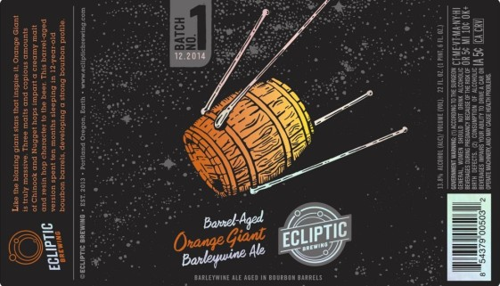 Ecliptic Brewing Orange Giant Barleywine Ale