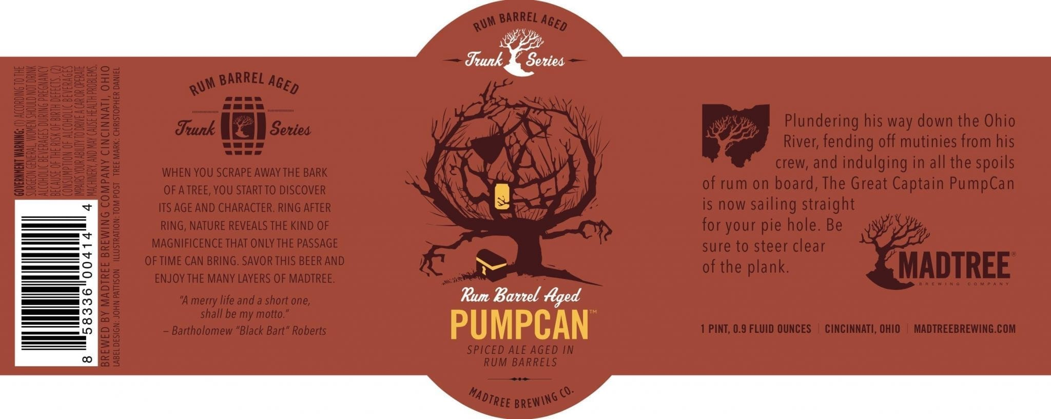 Madtree Brewing Company Rum Pumpcan