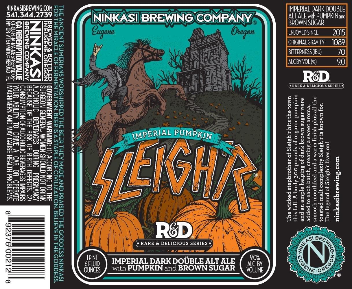Ninkasi Brewing Company Imperial Pumpkin Sleigh'r