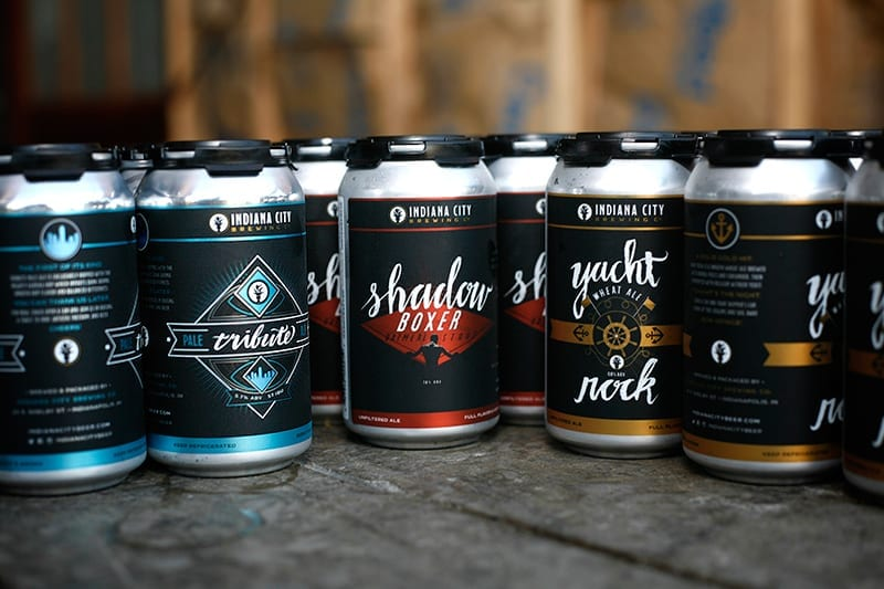 Indiana City Brewing Cans