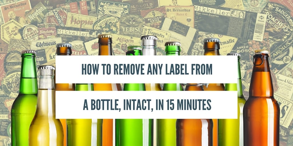 How to remove bottle labels intact thirsty bastards for How to put labels on bottles