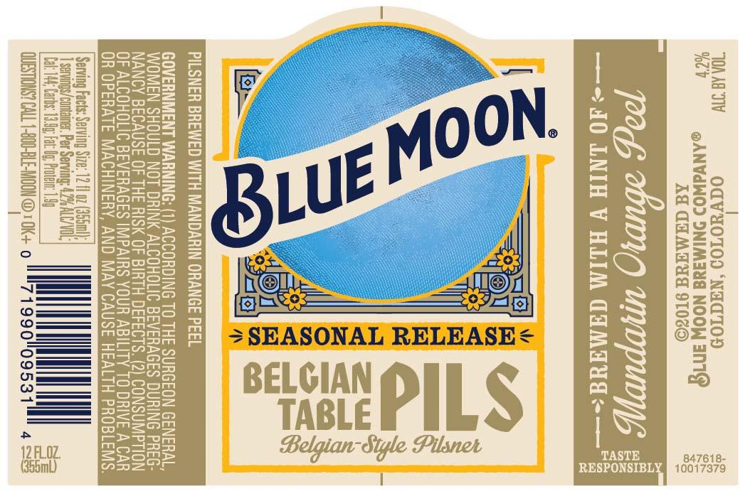 Blue Moon Belgian Table Pils