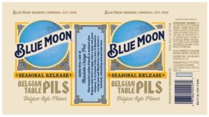 Blue Moon Belgian Table Pils Can Label