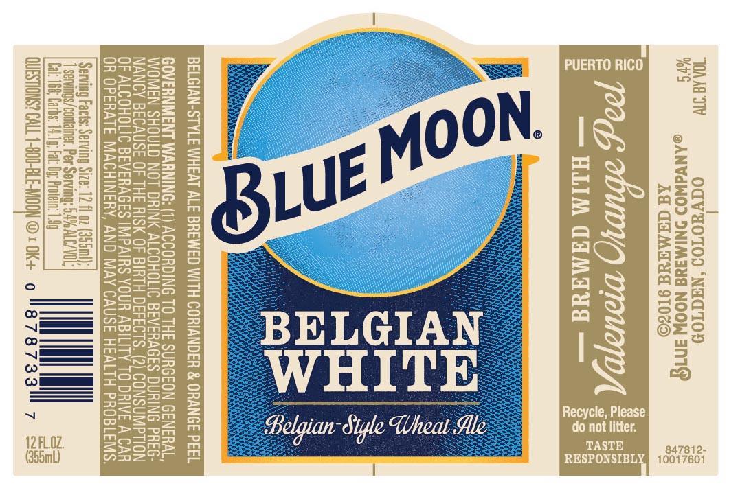 New Blue Moon Belgian White