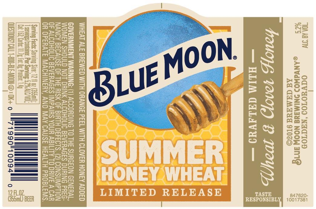 New Blue Moon Summer Honey Wheat