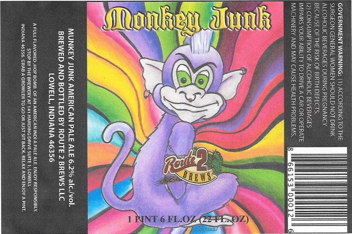 Route 2 Brews Monkey Junk