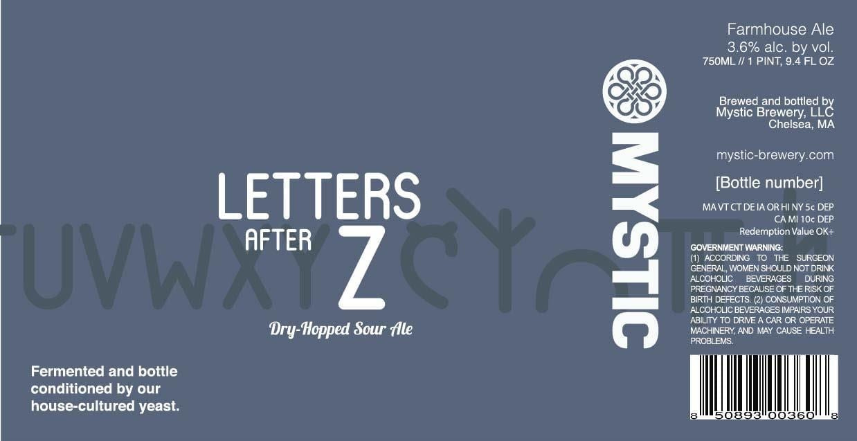 Mystic Brewery Letters After Z