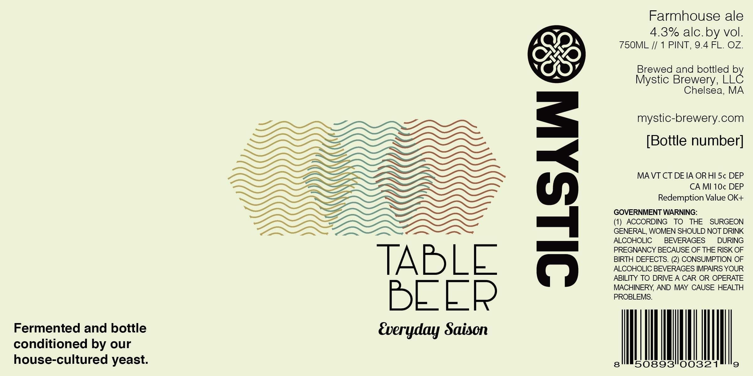 Mystic Brewery Table Beer