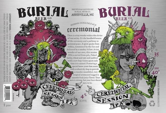 Burial Beer Co. Ceremonial Beer Label