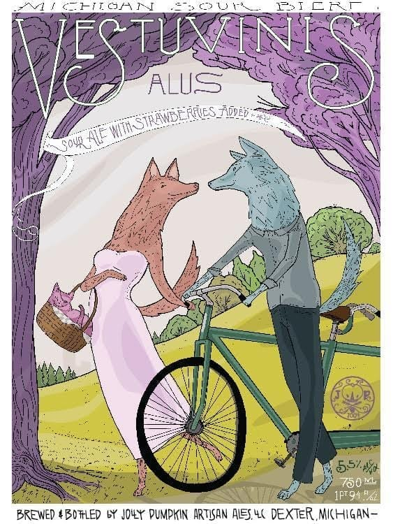 Jolly Pumpkin Artisan Ales Vestuvinis Beer Label