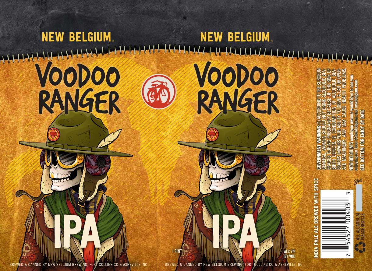 New Belgium Brewing Voodoo Ranger IPA Beer Label