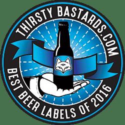 Thirsty Bastards Best Beer Labels Of 2016 Badge