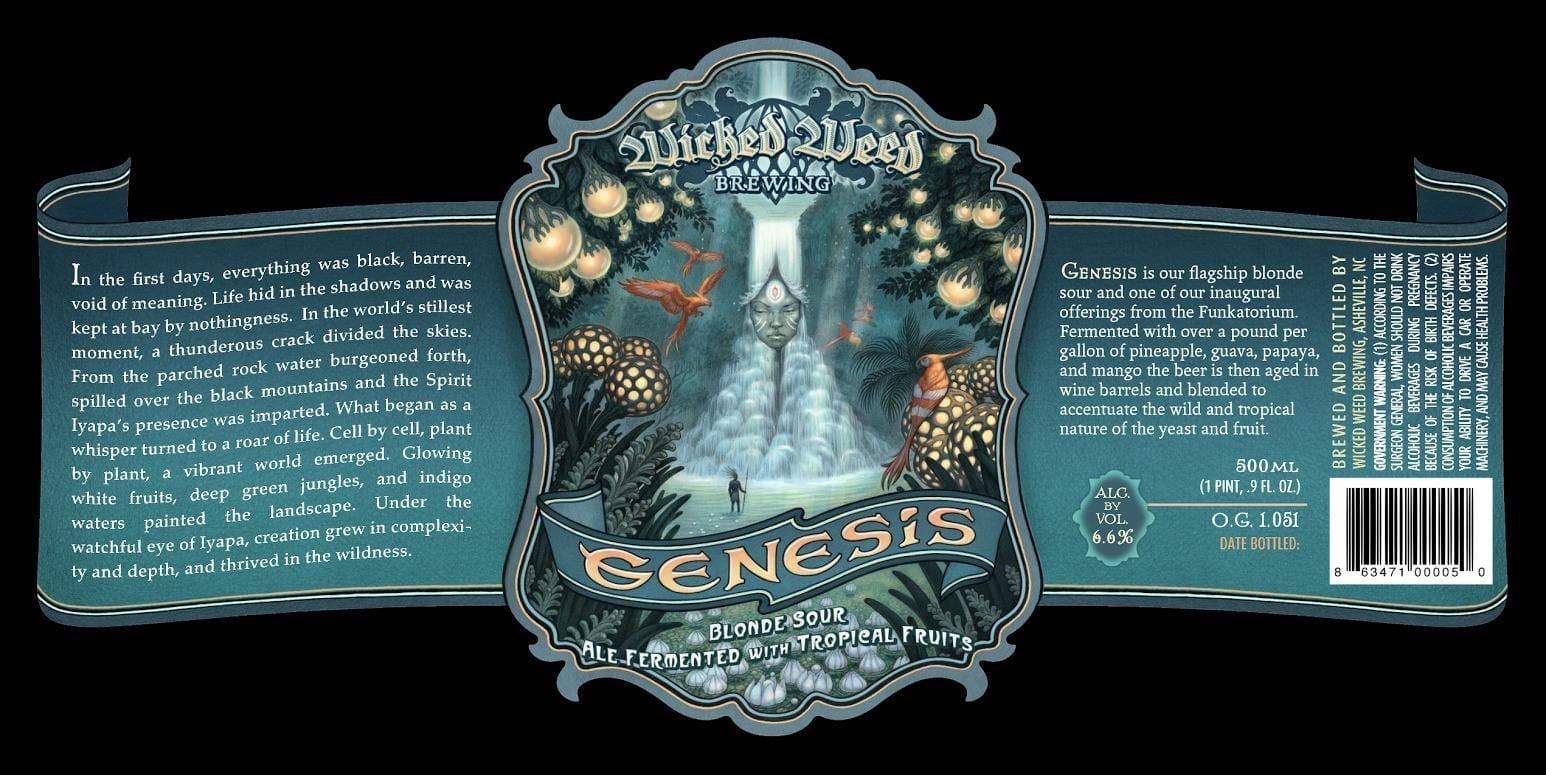 Wicked Weed Brewing Genesis Beer Label