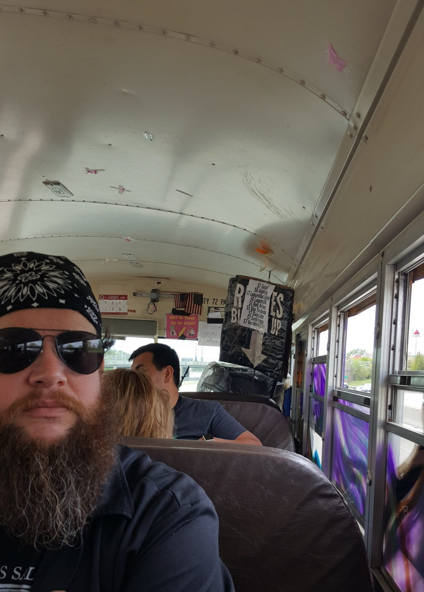 On the Reggies bus