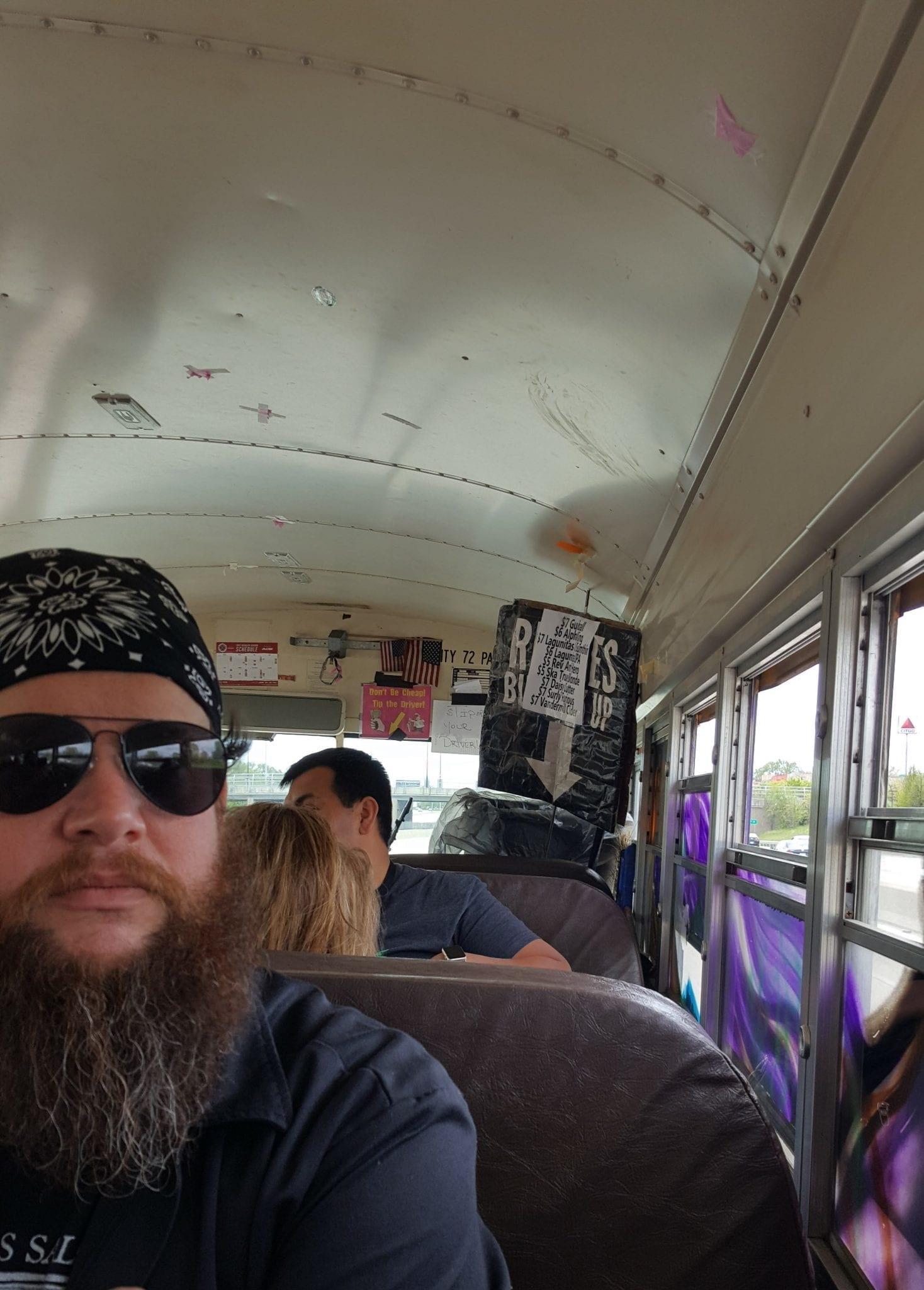 On the Reggies bus