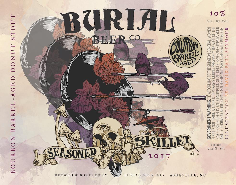 Burial Beer Co. Seasoned Skillet Donut Label
