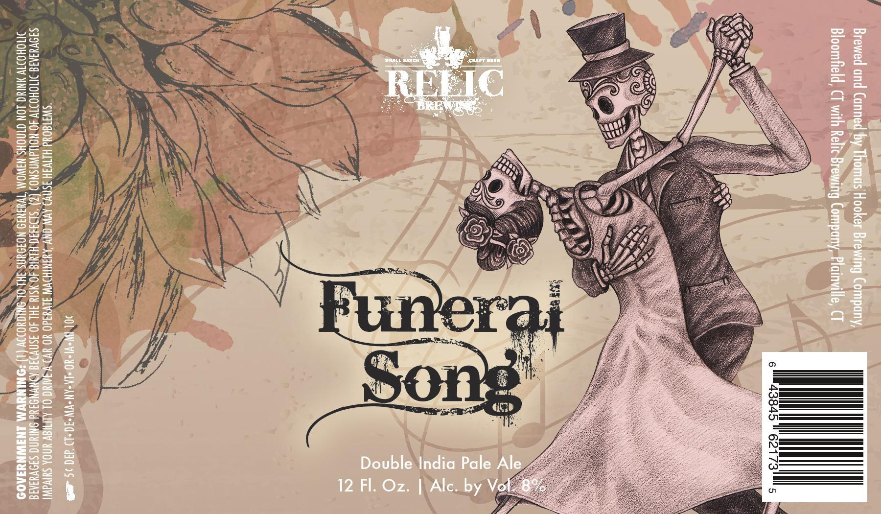 Relic Brewing Funeral Song Label