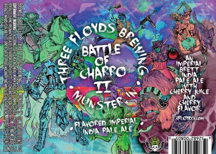 Three Floyds Brewing Battle Of Charro II Label