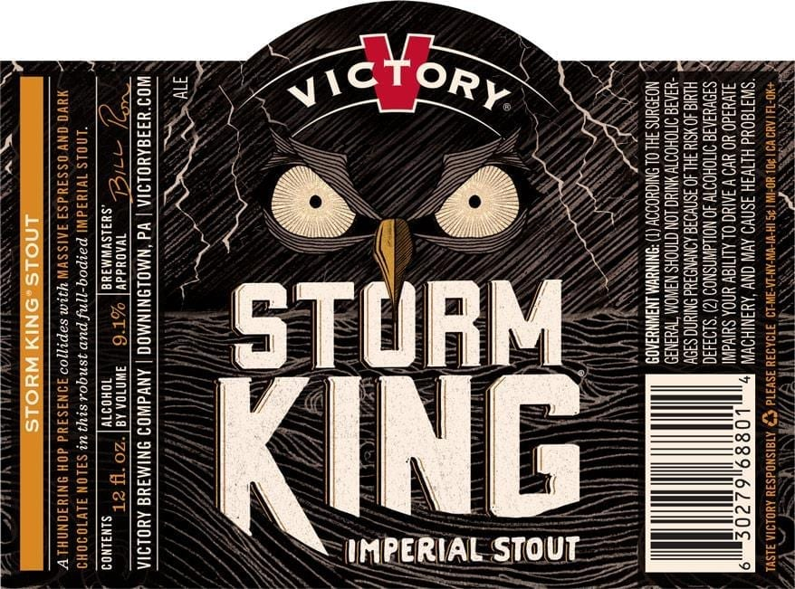 Victory Brewing Storm King Label