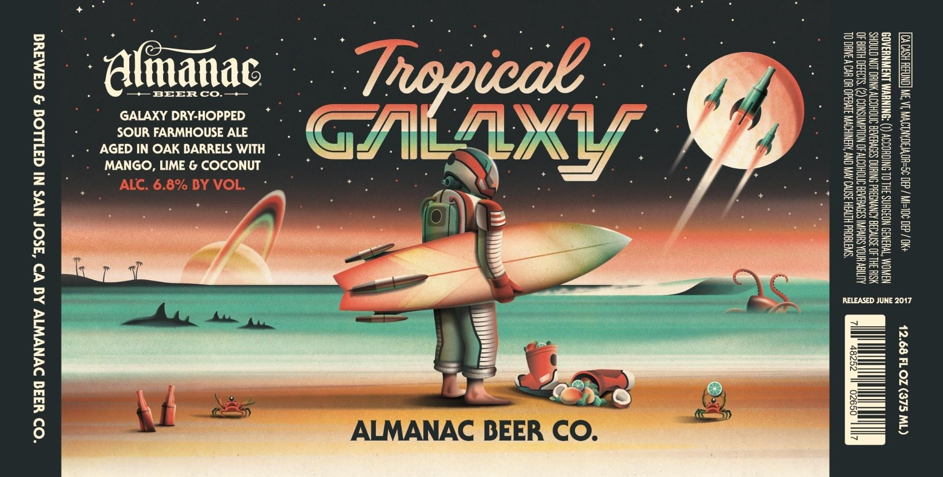 Almanac Beer Co. Tropical Galaxy Beer Label