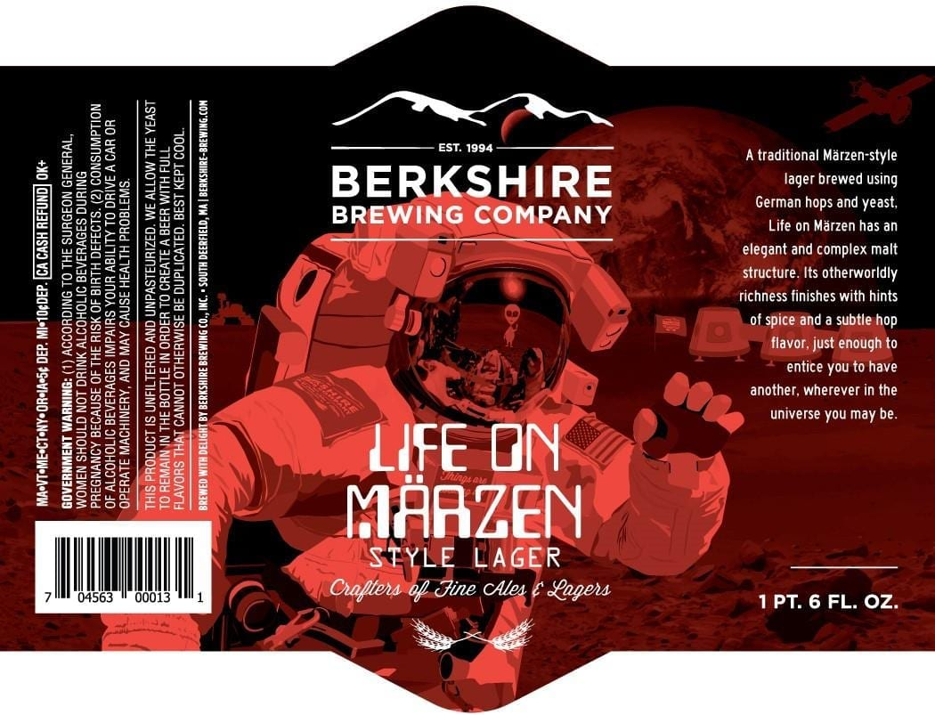 Berkshire Brewing Company Life On Marzen Beer Label