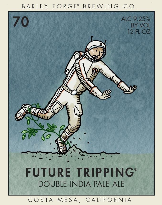 Barley Forge Brewing Co. Future Tripping Beer Label