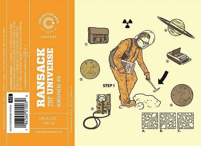 Collective Arts Ransack The Universe IPA Beer Label