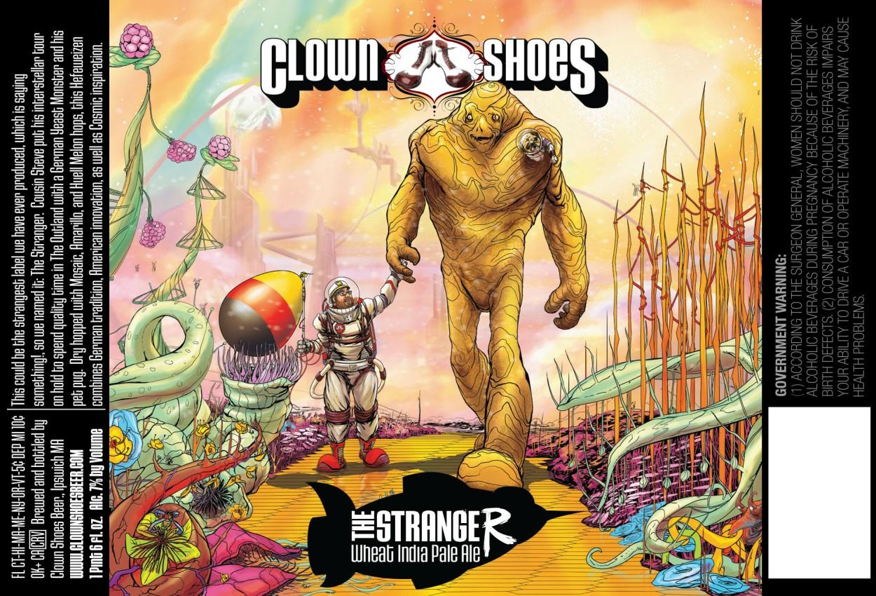 Clown Shoes The Stranger Wheat India Pale Ale Beer Label