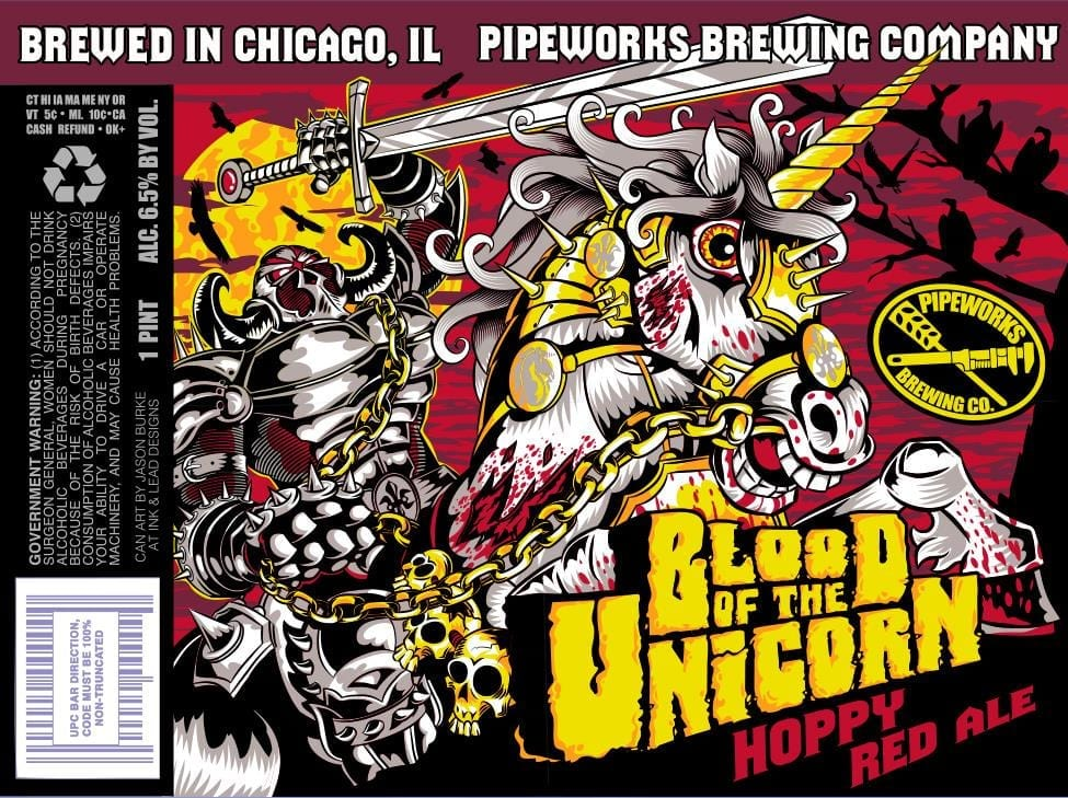 Pipeworks Brewing Blood of the Unicorn Label