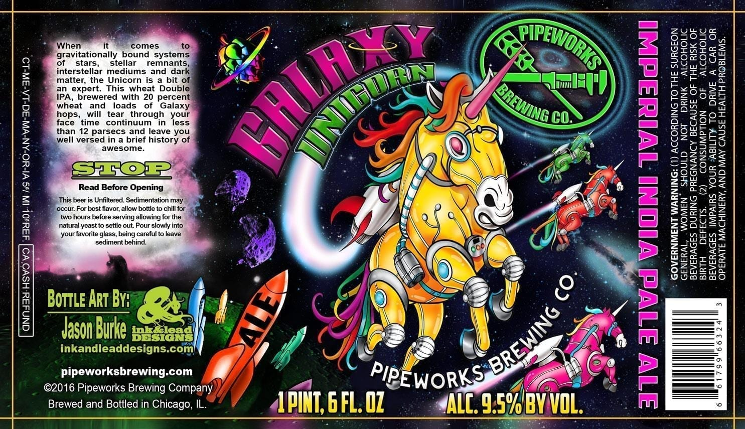 Pipeworks Brewing Galaxy Unicorn Imperial IPA