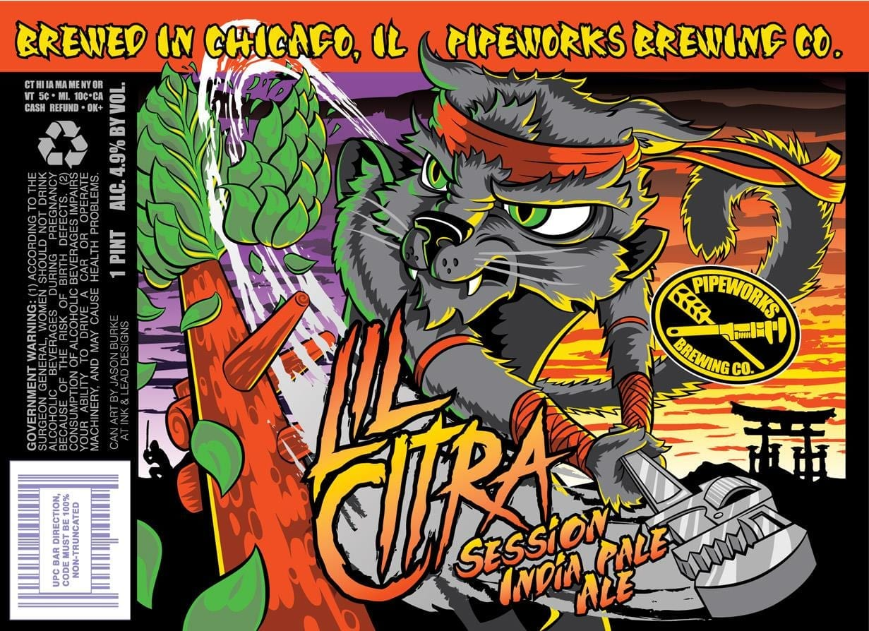 Pipeworks Brewing Lil Citra Session IPA Label