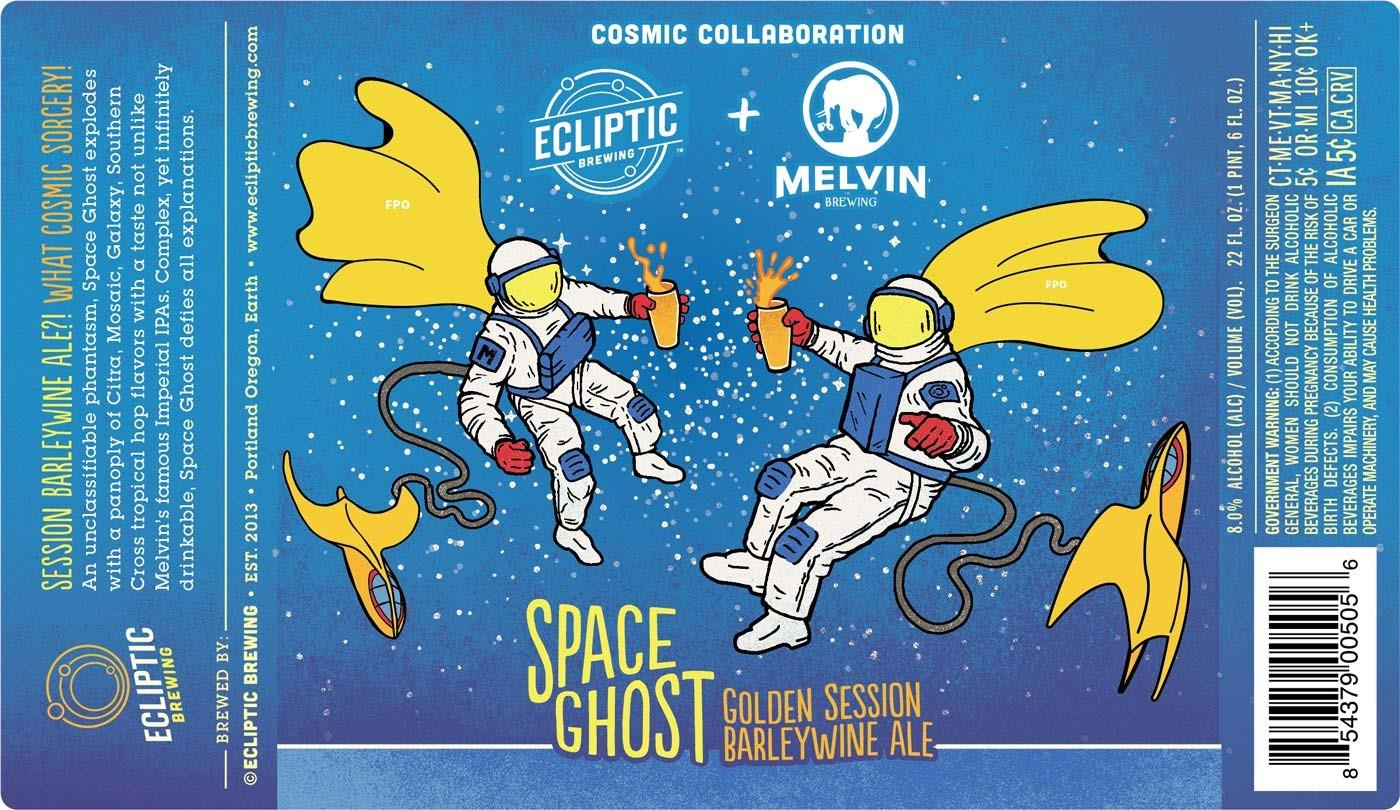 Ecliptic Brewing Space Ghost Golden Session Barleywine Ale